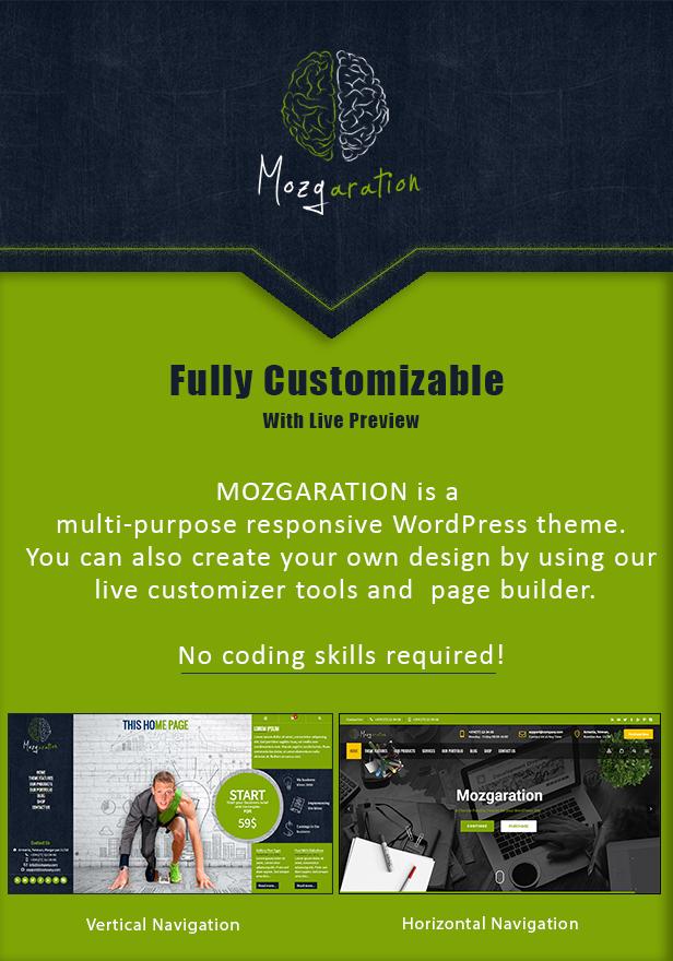 Mozgaration - Responsive Multi-Purpose WordPress Theme - 1